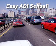 ADI school drivers in congested freeway traffic