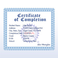 Florida online traffic school certificate of completion