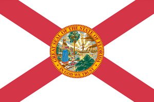 Florida flag indicating our courses are DHSMV approved
