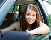 Teenager with driving instructor in Nevada driver education course